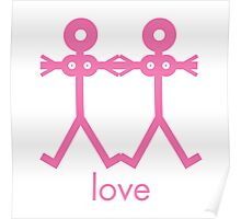 Love Women Icon Poster