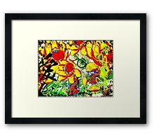 Catalea in her Garden Framed Print