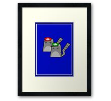 Mario and Luigi cat Framed Print