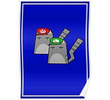 Mario and Luigi cat Poster