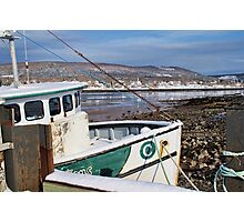 Annapolis Royal Wharf at Low Tide Photographic Print