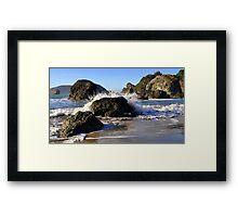 Oregon Splash Framed Print
