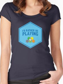 I'd rather be playing (Board games CATAN) Women's Fitted Scoop T-Shirt