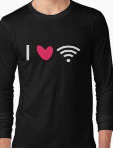 Love Wi-Fi - White Long Sleeve T-Shirt