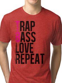 Trap Bass Love Repeat  Tri-blend T-Shirt