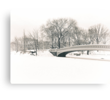 The Serenity of Snow - Central Park - New York City Canvas Print