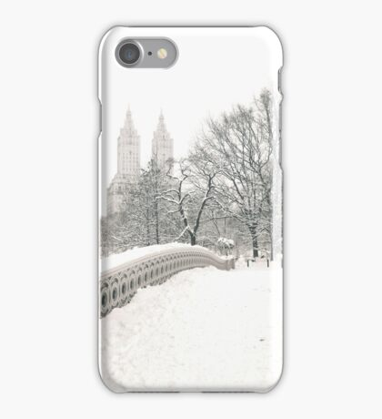 Winter View - Bow Bridge - Central Park - New York City iPhone Case/Skin