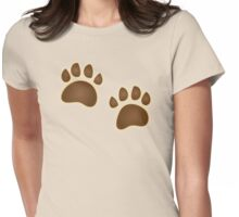 Bear paw prints Womens Fitted T-Shirt