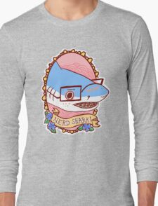 Nerd Shark Long Sleeve T-Shirt