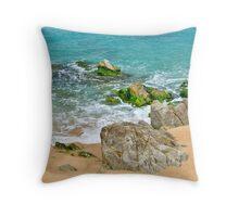 Coast of Spain in Lloret de Mar area Throw Pillow