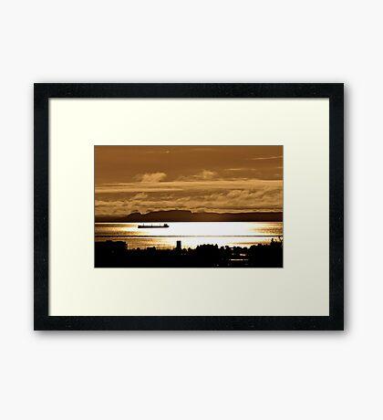 The Sleeping Giant Thunder Bay Framed Print