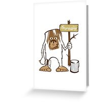Sasquatch Abominable Painted Greeting Card