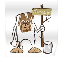 Sasquatch Abominable Painted Poster