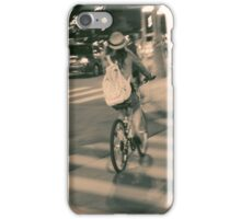 Girl on Bicycle iPhone Case/Skin