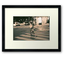 Girl on Bicycle Framed Print