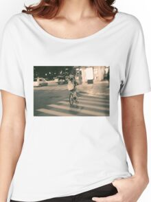 Girl on Bicycle Women's Relaxed Fit T-Shirt