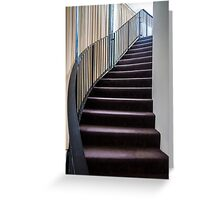 Curved Stair. Greeting Card