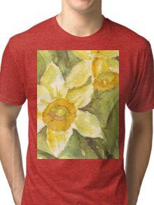 Golden Daffodils  Tri-blend T-Shirt
