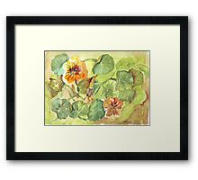 My Flowers and I Framed Print