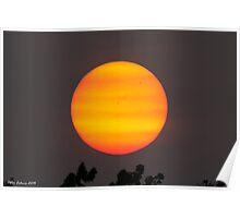 Bushfire Sunset #2 Poster