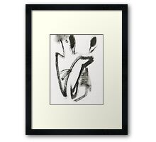 girl with tulips2 Framed Print