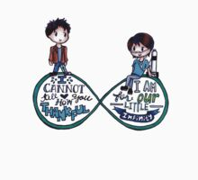 "The Fault In Our Stars (TFIOS) - ""...Infinity"" [Shirts & Transparent Stickers] Kids Clothes"