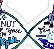 """The Fault In Our Stars (TFIOS) - """"...Infinity"""" [Shirts & Transparent Stickers] Sticker"""