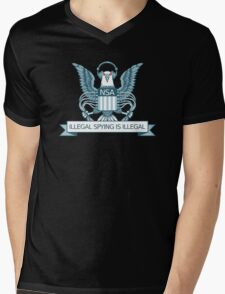 Illegal Spying is Illegal Mens V-Neck T-Shirt