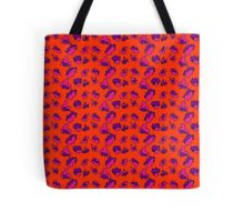 Bright Bold Abstract Patterned Contrasting Color Mix Tote Bag