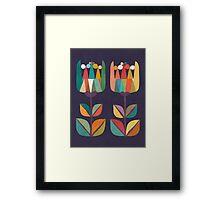 Whimsical Tulip Flower in Bloom Framed Print