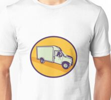 Closed Delivery Van Woodcut Unisex T-Shirt