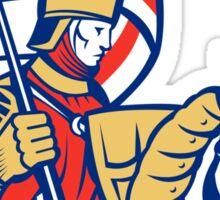 English Knight England Flag Shield Horse Retro Sticker