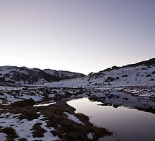Spencers Creek - Winter Dusk View 01 by Timothy Kenyon
