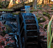 Water wheel in the wood | architectural photography Sticker