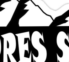 apres ski, ski, party, winter, snowboard,ride,hut Sticker