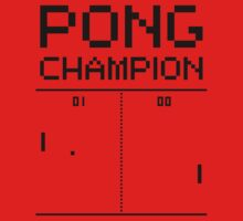 Pong Champion One Piece - Long Sleeve