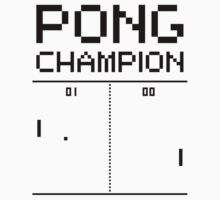 Pong Champion Kids Tee