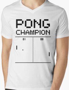 Pong Champion Mens V-Neck T-Shirt