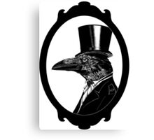 Raven in top hat Canvas Print