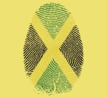 Jamaican Flag  Finger Print. by SoftSocks