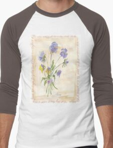 Viola oderata, oh sweet Violet! - Botanical Men's Baseball ¾ T-Shirt