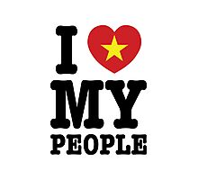 I Heart (Love) My Viet People Photographic Print