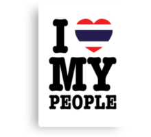 I Heart (Love) My Thai People Canvas Print