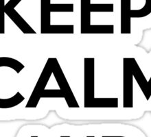 Keep calm and ride on Sticker