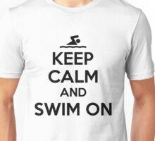 Keep calm and swim on Unisex T-Shirt
