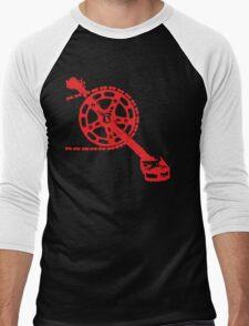 Cycling Crank Men's Baseball ¾ T-Shirt