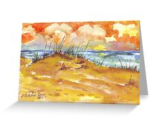 Sunrise over St. Lucia Greeting Card