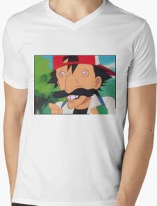 Nigel Thornberry Ash Ketchum Mens V-Neck T-Shirt