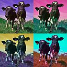 Pop art cows by rubyrainbow