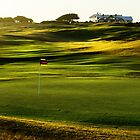 Shadows on Barwon Heads GC by Graeme Buckland